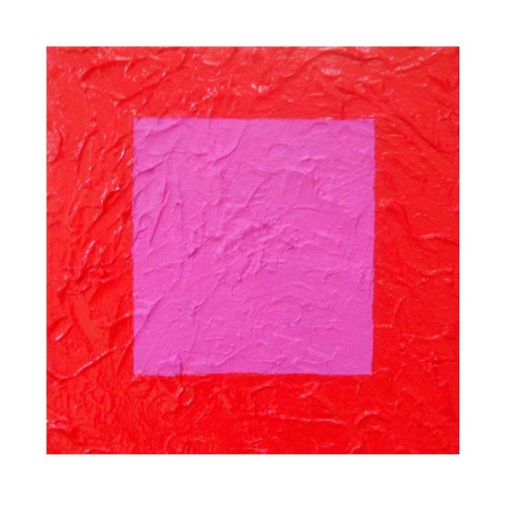 Pink and Red Glossy Textured painting