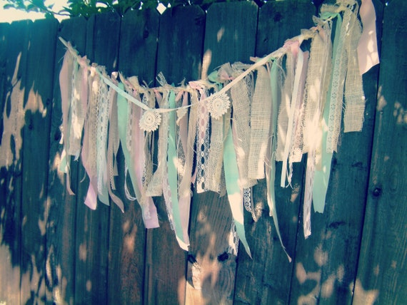 Fabric Garland, Medium Size, Table Front Garland, Customize to match your event