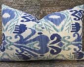 Designer Pillow Cover 12 x 18 - Outdoor - Ikat