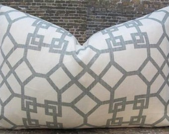 Designer Pillow Cover  12 x 16, 12 x 18, 12 x 20 Windsor Smith - Pelagos Mist