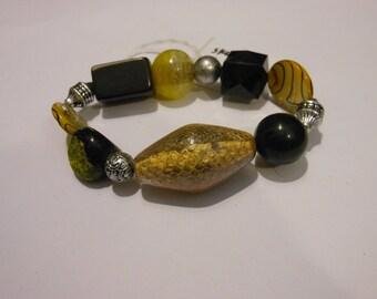 25% off- Black and Yellow Stretch Bracelet sku31721