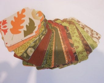 100 Count Autumn Thanksgiving Scalloped Edge Paper Tags