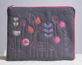 iPad Case - with vintage fabric flower garden