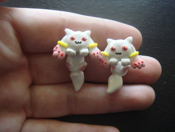 Cute Kyuubey Two-Part Stud Earrings