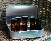 Customizable Essential Oil fragrance and aromatherapy sets blended with almond oil