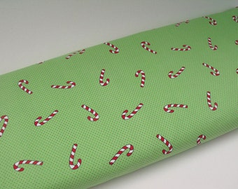 SALE Fabric Finders Cotton Christmas Fabric  Candy Cane - Fabric Finders -1 Yard
