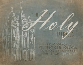 2013 LDS Youth Theme- Stand Ye in Holy Places- 16x20 Matte Litho Print