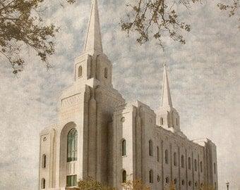 Brigham City, Utah LDS Temple Print- 20 x 16