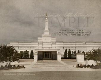 Oklahoma City, Oklahoma LDS Temple Print 16x20
