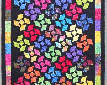 Quilt Pattern  - Twilight Tango - Crib to King Size - Layer Cake - Confident Beginner