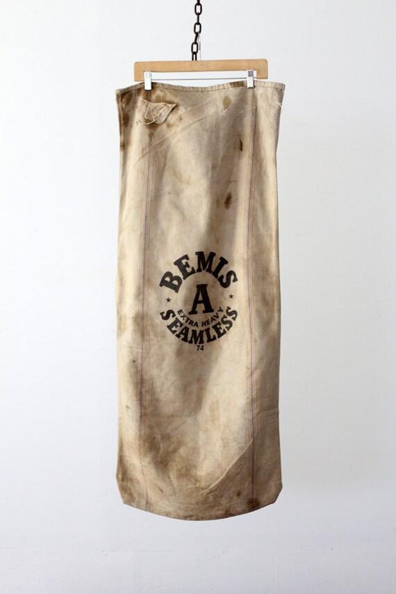 Vintage American Grain Sack // Bemis Seamless