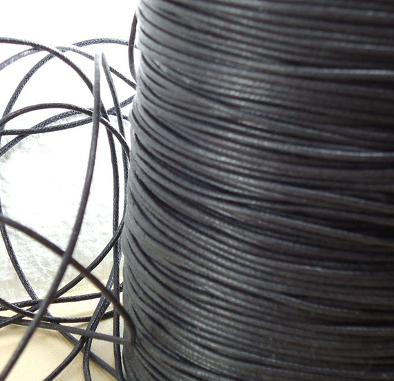 For Grace Only...............................Cord Waxed Cotton Black String Lace Jewelry Cord Macrame String 1.5mm for Bracelet and Necklace