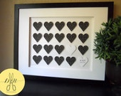First Anniversary Personalized 3D Printed Paper Heart Art