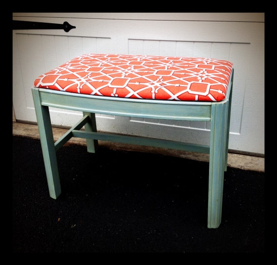 ON SALE: Vintage Upcycled Coral Bench