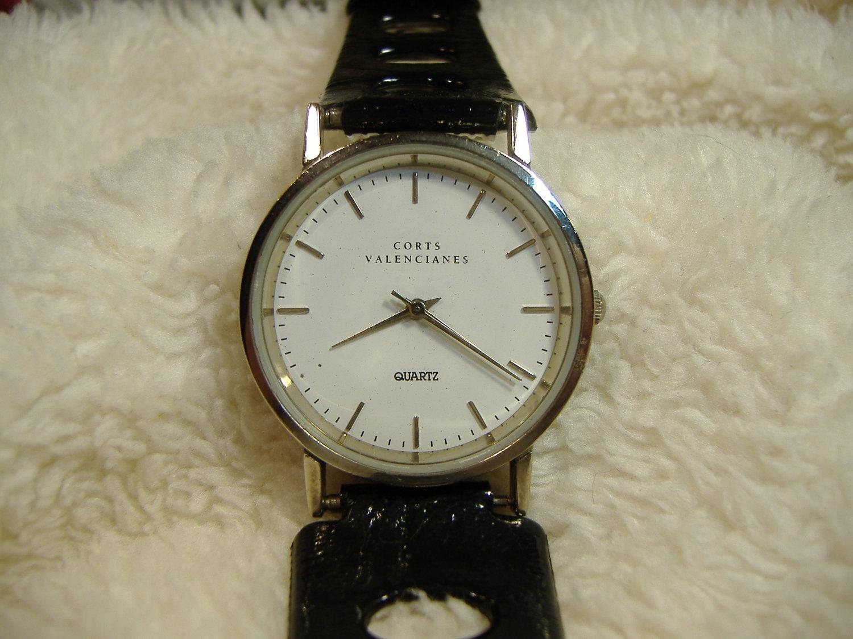 Vintage 1980s corts valencianes quartz watch - Vintage valencia ...