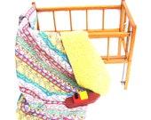 Vintage Quilt Blanket Baby Crib Nursery Bedding Colorful