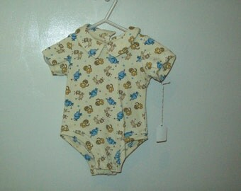 Infant Onesie, Zoo animals, Last One, Size 18-21 pounds, Ready to Ship, Clearance Sale