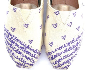 The Chloe - Purple and Cream Custom TOMS