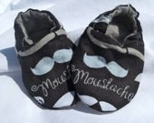 Baby Boy Shoes Booties -  Mustaches