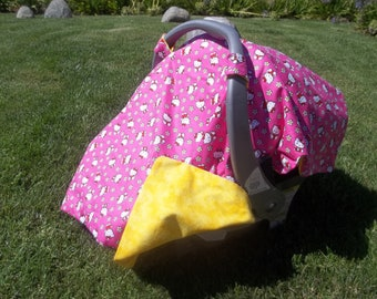ON SALE! Infant Car Seat Cover Hello Kitty