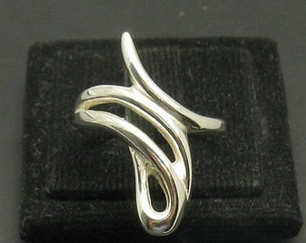 R000965 Stylish Plain STERLING SILVER Ring Solid 925