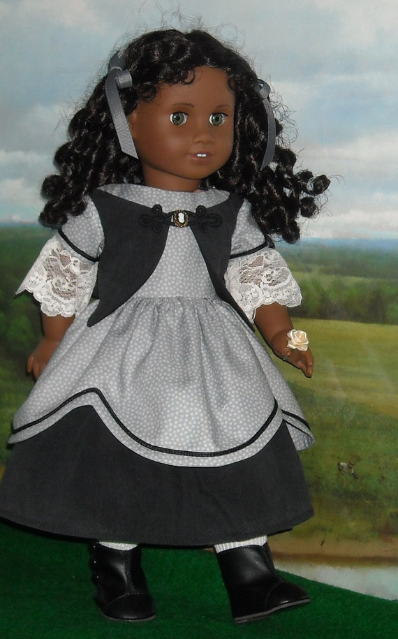 1850's Gracious in Gray Dress  for 18 inch Dolls