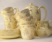 "1950s Midwinter Chintz ""Brama"" Tea Set"