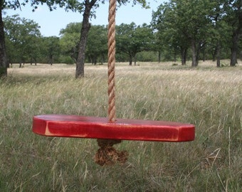 Single Rope Red Tree Swing