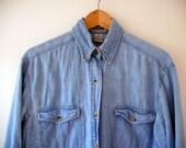 Denim vintage button up shirt by Kikomo M L