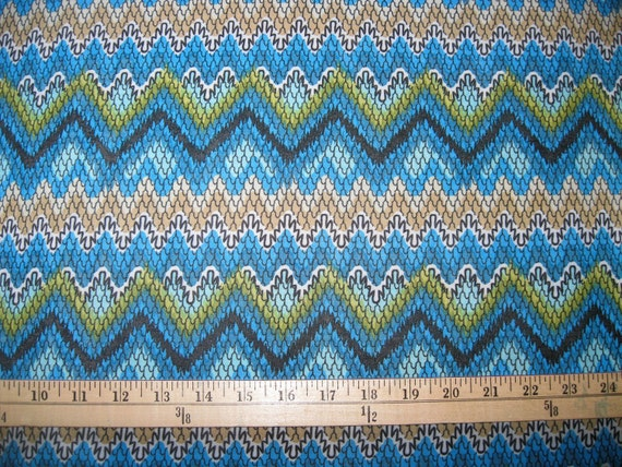 CLEARANCE SALE, Chevron Snakeskin Print ITY Knit Fabric, Turquoise, 10 yards