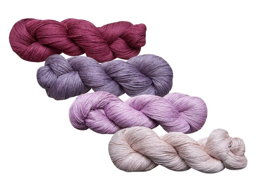 High quality 100% LINEN yarn 400gr 4 hanks x 100 grPure