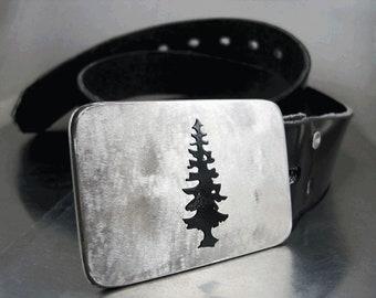 Doug Fir Belt Buckle - Stainless Steel - Handmade