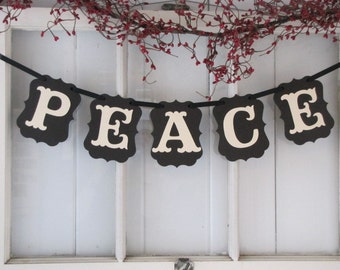PEACE Banner, Peace Sign, Christmas Sign, Christmas Decoration, Baby Jesus, Christian Christmas, Christmas Card Photo Prop