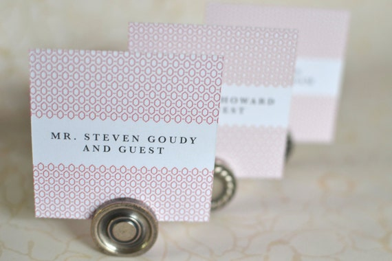 Wedding Place Cards: Woven Art Deco - Geometric Folded or Flat Place Cards, Escort Cards