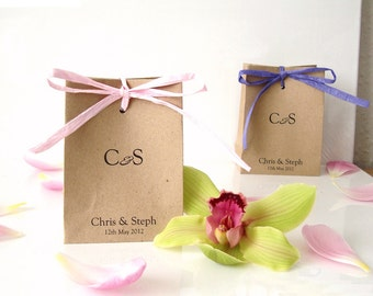 Wedding favour bags mini paper bags brown paper bags sweets gift wrap chocolate box party bags personalized favours without handles