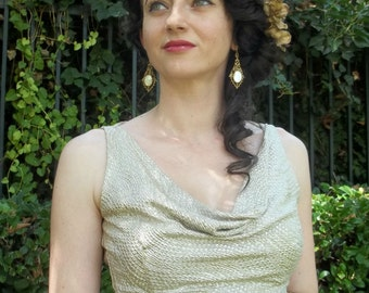 Old Hollywood  Choli in Silver-on-Gold