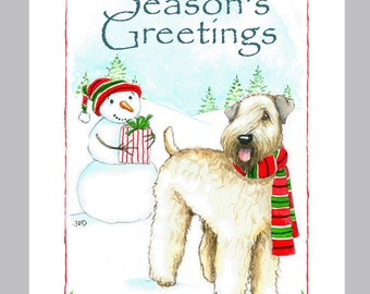 Soft Coated Wheaten Terrier Christmas Cards