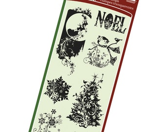 Clear Christmas Stamps from Inkadinkado - Holiday Silhouettes