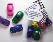 Car crayon set of 2 with free personalization by Scribblers Crayons