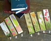 ONE bookmark laminated watercolor reproductions book club