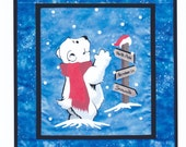 Polar Bear Theme Quilt Pattern by Sunset Silhouette