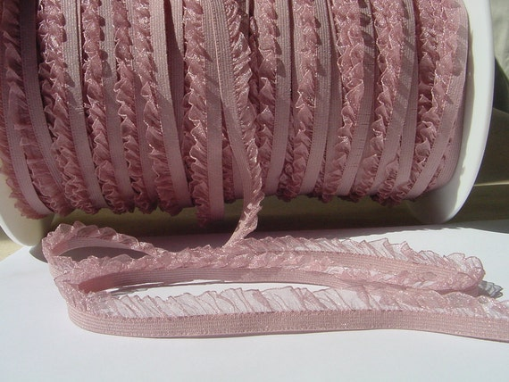 5 yards elastic with ruffle trim to altered your fashion headband and lingerie designs
