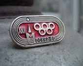 22 Olympics Games in Moscow 1980 - Logo pin badge Russian Symbols