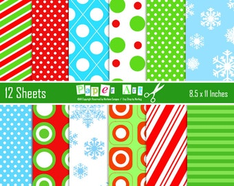 Christmas digital papers, Christmas Backgrounds, Digital Papers, Digital Backgrounds, Christmas Decoration - INSTANT DOWLOAD