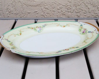 Vintage EMPRESS CHINA Japan Hand Painted Medium Oval Platter.
