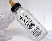 Vintage 1950s Glass Baby Bottle by Samuel Callet