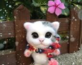DIY needle wool felting kit - Mr. Bond, the cat