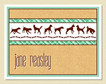 Great Note Cards For Dog Lovers - Personalized (10 Folded)