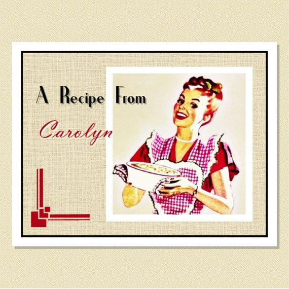 Fun Forties Retro - Recipe / Note Cards - Personalized (10 Folded)