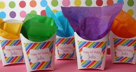 24 Party Snack Containers w/  custom labels